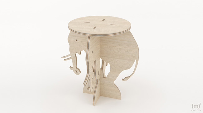 Elephant Flowerpot wooden furniture