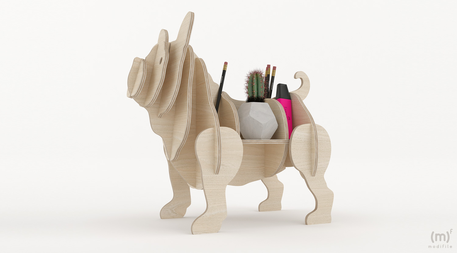 French Bulldog wooden furniture
