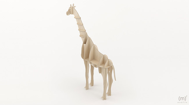 Giraffe Shelf wooden furniture