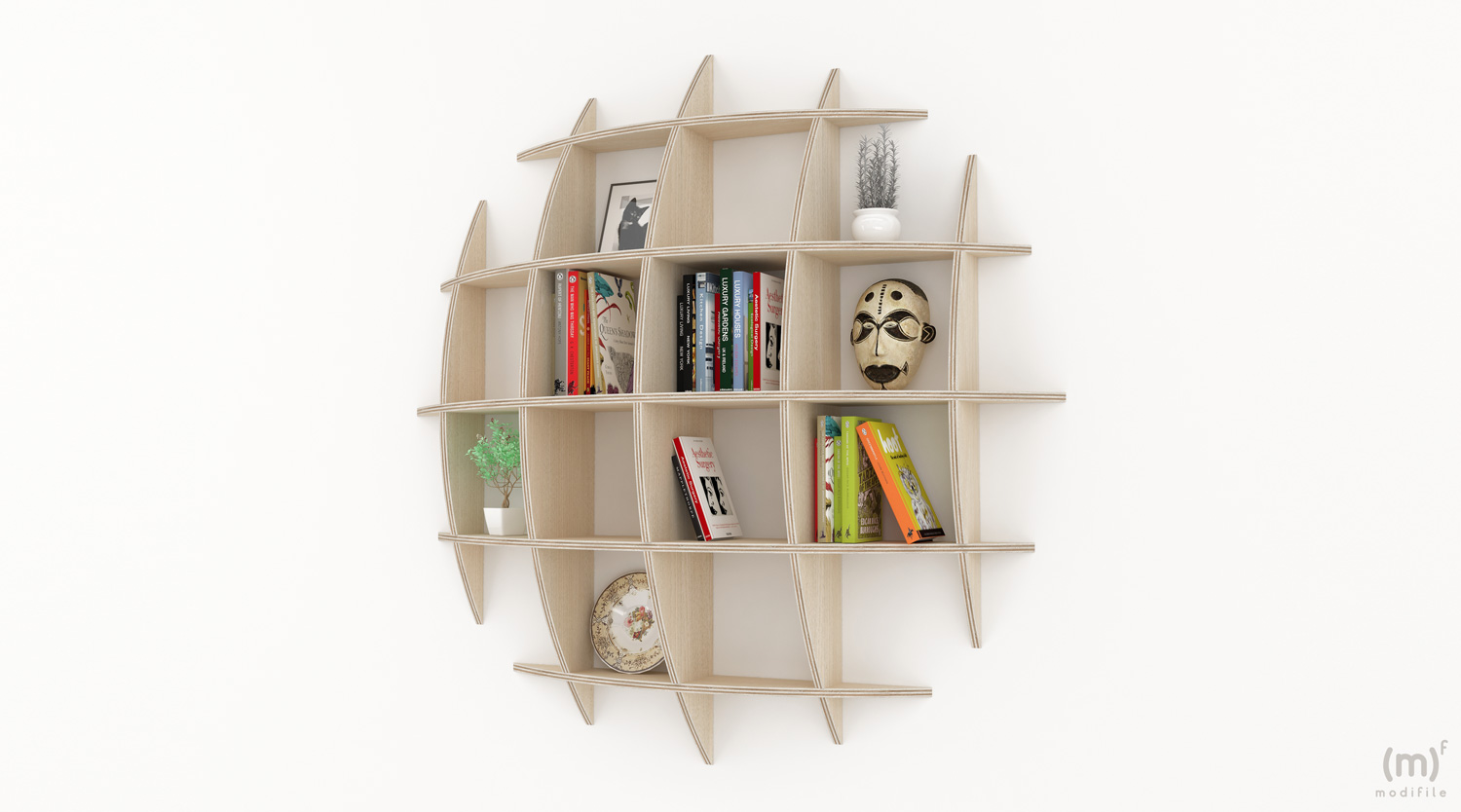 Eye Bookcase wooden furniture