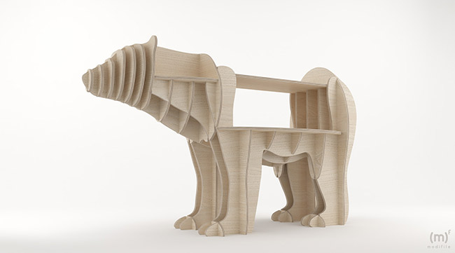 Polar Bear wooden furniture