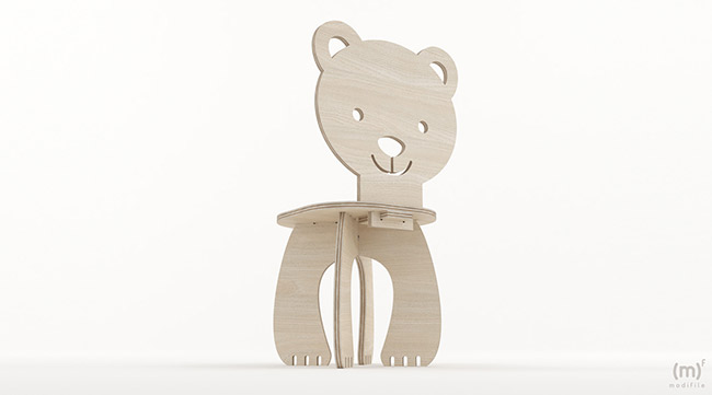 Bear Chair wooden furniture