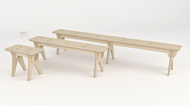 Ares Bench wooden furniture