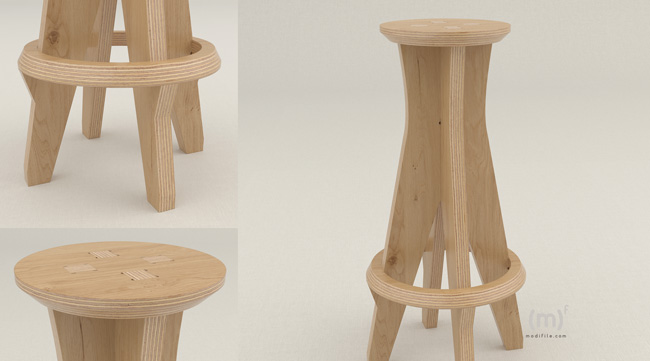 Hermes Bar Stool wooden furniture