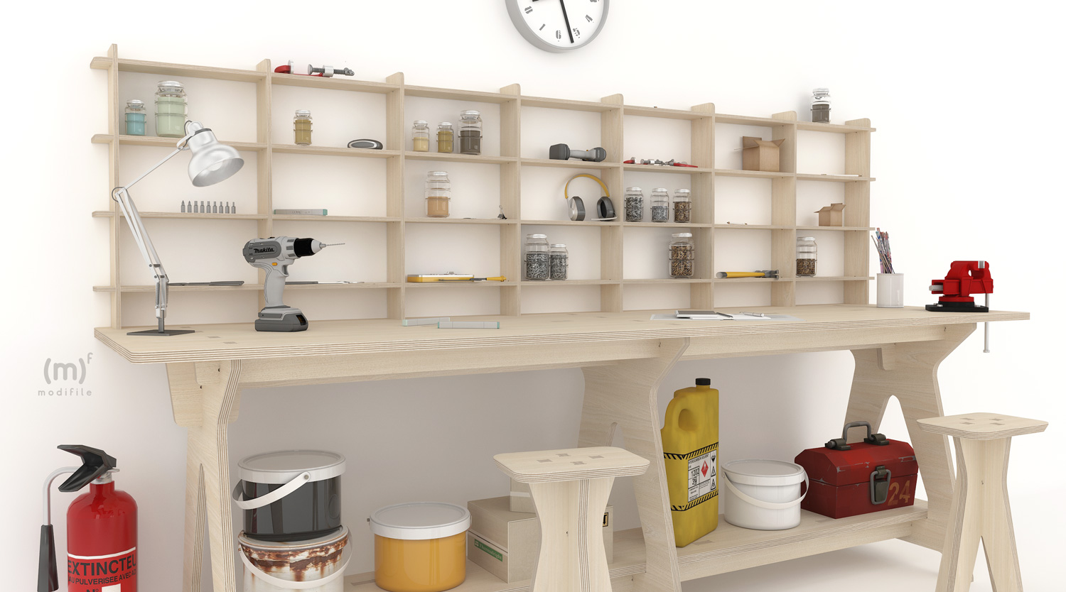 Caos Organizer wooden furniture