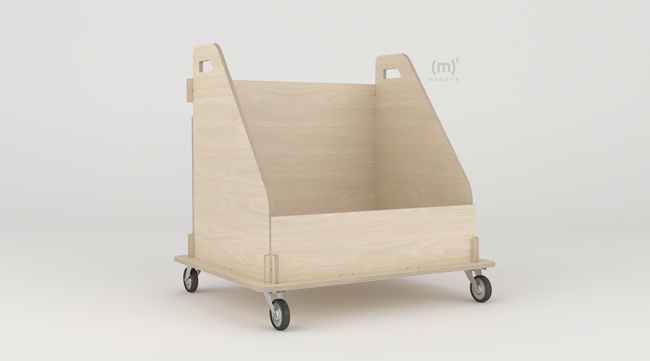Box Trolley wooden furniture